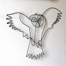flying owl wire wall art