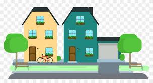 Print Friendly Housing Area Cartoon Png Free Transparent