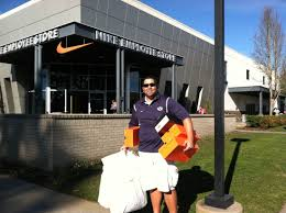 on the road byu sets records in portland plus donuts nike swag nike medium it s common at the employee store