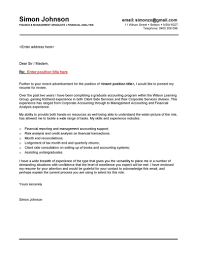 Sample Of Cover Letter For Fresh Graduate Accounting