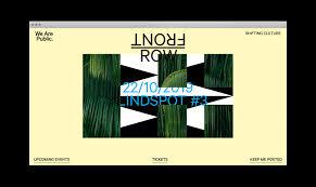 Front Row Design Front Row We Are Public Video Website Studio