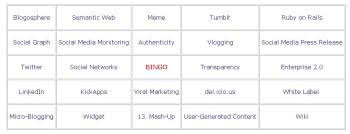 buzzword bingo generator ignite social media the original social media agency 25 social