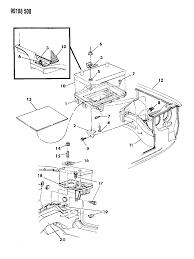 1990 chrysler lebaron gtc battery tray diagram 000005a1