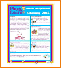 Sample Business Newsletter Awesome Science Newsletter Templates Preschool Download Sample Business