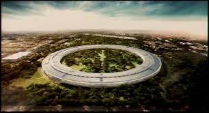apple new office. Artistic Rendition Of An Aerial View Apple\u0027s New Headquarters, As Presented By Steve Jobs Apple Office