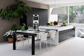 Good Extendable Dining Table That Can Be Tucked Away Into The Kitchen Island    Decoist Design Ideas