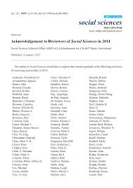 PDF) Acknowledgement to Reviewers of Social Sciences in 2014