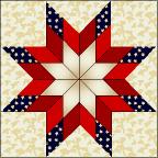 Pattern: Blazing Star - The Quilting Company & Patriotic Blazing Star Adamdwight.com