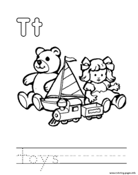 Toys Alphabet Db76 Coloring Pages Printable