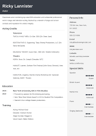 Acting Resume Template Cubic Musical Theatre Downloadd Theater