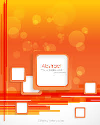 Free Background Design Vector Orange Background With Square Design Vector Template