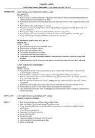 Loan Servicing Specialist Resume Samples | Velvet Jobs