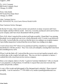customer complaint letter template customer complaint letter