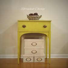 Small Picture Folk Art Home Decor Chalk Paint End or Side Table in Yellow