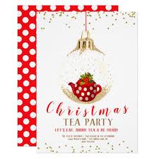 Christmas Tea Party Invitations Christmas Holiday Tea Party Invitation