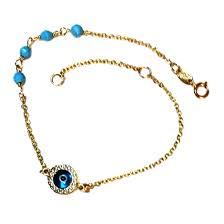 9ct gold evil eye beads dia cut
