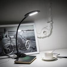 ma66c 6w flexible gooseneck clip led table lamp usb port