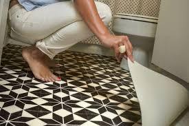 home depot vinyl sheet flooring black and white