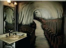 man cave bathroom. Exellent Bathroom Cave Bathroom Wine Mural By Better Murals Man  Accessories   Inside Man Cave Bathroom