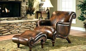 small leather chair. Cool Small Chair With Ottoman Leather And Gray M