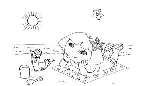 Kleurplaten Dora Op Het Strand Kleurplaten Voor Jou