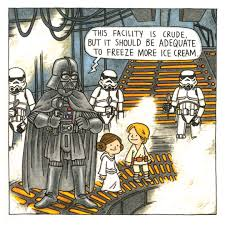 page from darth vader and friends