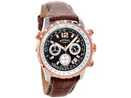 rotary gs00200 04 rose gold plated chronograph brown leather strap default image rotary gs00200 04 rose gold