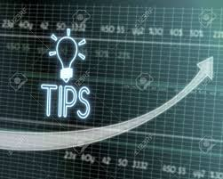 Tip Stock Chart Successful Investmanet Chart With A Tip Symbol On A Stock Market
