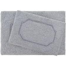 blossom dark gray premium extra plush race track 2 piece bath rug set