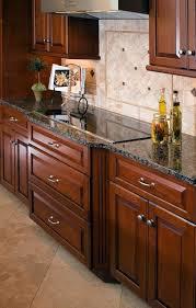 Wood Kitchen Cabinets Baltic Brown Granite Countertop Tile Custom Granite With Backsplash Remodelling