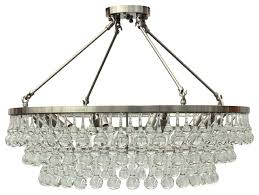 celeste flush mount glass drop crystal chandelier brushed nickel 32