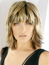 Picture Of Medium Length Hair Style blonde medium length choppy shag haircut with wispy bangs and dark 6695 by wearticles.com