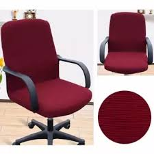 office chaise. Arm Chair Cover Three Sizes Office Computer Side Zipper Design Recouvre Chaise Stretch Rotating