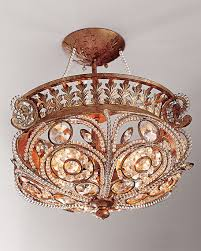 horchow lighting. Modren Horchow La Crystal SemiFlush Light Fixture Gold Finch Horchow Decor And Lighting  Sale To Lighting