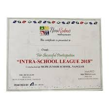 Principal Award Certificate Corporate Award Certificate