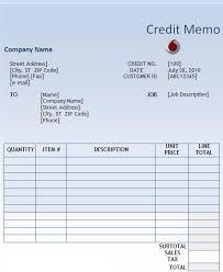 Word Memo Templates Free Credit Memo Template Free Printable Ms Word Format