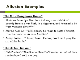 examples of allusion alisen berde examples of allusion