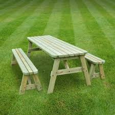 oakham rounded picnic table and bench set 7ft rutland county garden furniture
