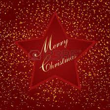 star bits. red christmas background with star, bits of paper illustration star