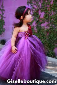 Flower Girl Dress Eggplant And Purple Baby Tutu Dress Toddler
