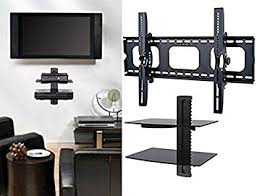 Amazon.com: 2xhome - TV Wall Mount with Shelf Up to 85 inches tv Floating  Shelf with Strengthened Tempered Glass for DVD Players/Cable Boxes/Games ...