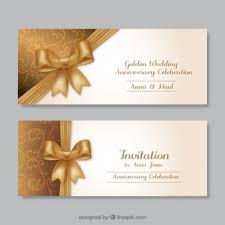 elegant golden design invitation template vector free download Blank Golden Wedding Invitations golden wedding anniversary invitations blank 50th wedding anniversary invitations