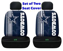 dallas cowboys nfl printed logo car seat cover set of two