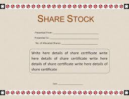 Share Certificate Word Template - Frugalhomebrewer.com