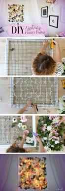 cheap bedroom decor ideas diy light up flower frame http