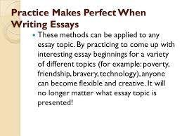 interesting ways to start an essay ppt video online  10 practice makes perfect when writing essays