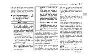 Subaru Blue Coolant Light Subaru Impreza Manuals 2014 Impreza Owners Manual