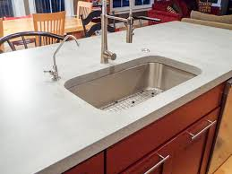 concrete kitchen countertop island with undermount sink full image