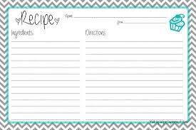 Full Page Recipe Templates Printable Recipe Card Template