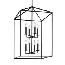 Entryway Lighting Pendants Sea Gull Lighting Perryton 19 In W 8 Light Blacksmith Hall